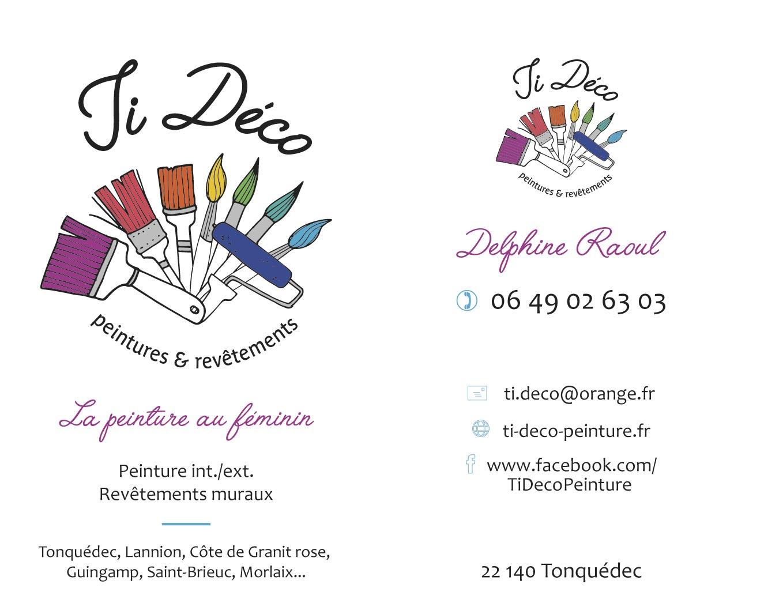 Cartes De Visite Pour Ti Dco Peinture